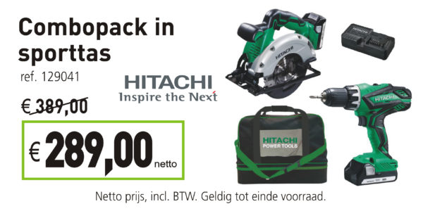 Hitachi combopack in sporttas