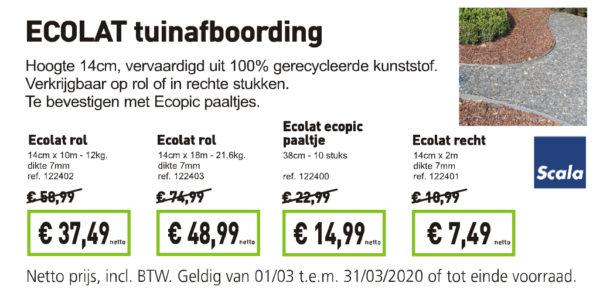 Ecolat tuinafboording