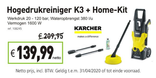 Karcher Hogedrukreiniger K3 + Home-Kit