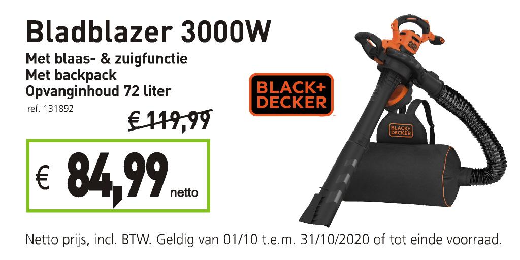 Black & Decker bladblazer met backpack