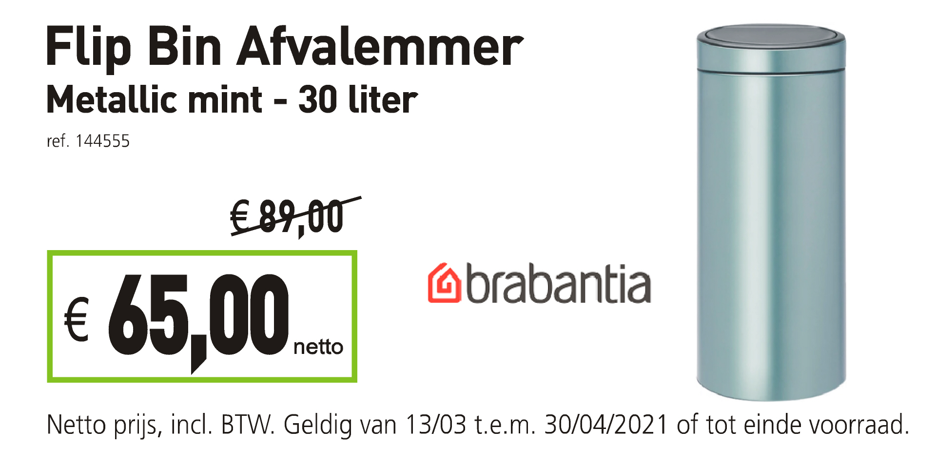 Brabantia Flip Bin Afvalemmer