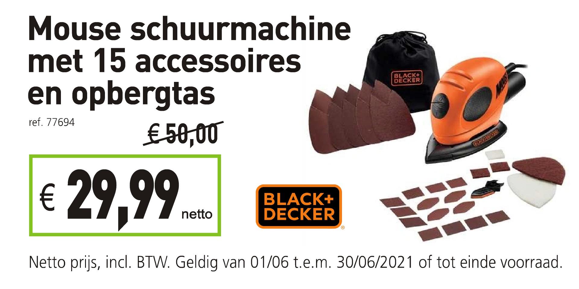 Mouse schuurmachine Black & Decker