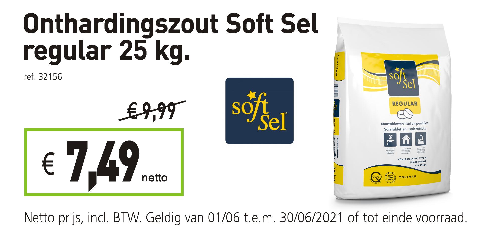 Onthardingszout Soft Sel regular 25 kg