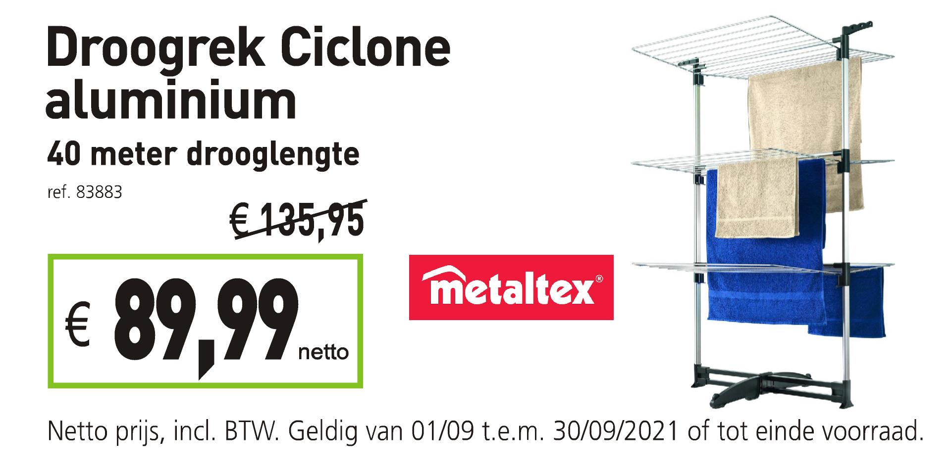 Metaltex droogrek Ciclone